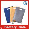 Factory customize non woven die cut shopping bags/nonwoven die cut bag