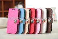 For Samsung Galaxy S4 I9500 Luxury Diamond Leather Case
