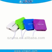 USB 2.0 4-Port Ultra-Mini Hub