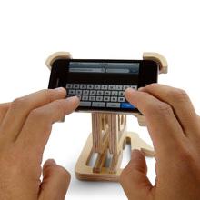 Plastic cell phone table holder/Wooden Cell phone holder manufacturer