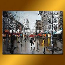 Latest Paris Stree Romantic Landscape Picture Art Printed On Canvas