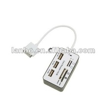 2014 NEW 7 In 1 SD MS TF M2 Card Reader USB HUB Connection combo Kit