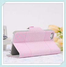 Cute stand flip book style leather case for iphone5
