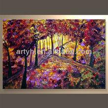 Wholesale Handmade Decorative Canvas Oil Painting Trees