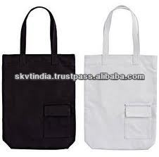 blank cotton tote bags with pocket