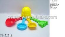 plastic mini beach toys set boat beach sand molds toys promotion toys