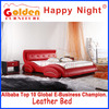 Unique new design red leather Car Twin Bed