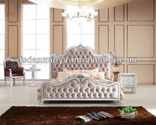 Luxury home furniture used fabric bedroom set 8013 #