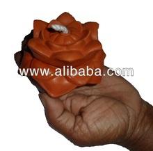 Lotus Shaped Clay Oil Lamp