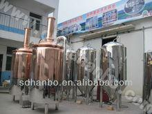 3000L red copper german beer machine/a2 steel knife