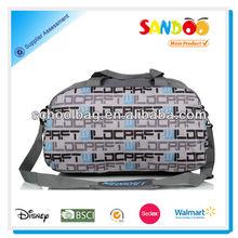 Durable polyester trendy fancy travel duffel bags