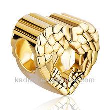 Heart Love Angel Wing Love Gold Charm European Bead Bracelet