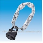 Padlock with chain made in JAPAN with key blank