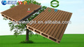 2014 estándar de europa al aire libre de madera y plástico compuesto de la cubierta/piso del wpc