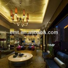 Wonderful and elegant living room and lobby sofa set design,Hotel sofa set (EMT-HTB16-(1)