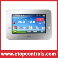 smart room thermostat colorful wallpaper touch screen