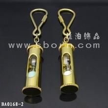 Digital sand clock metal keychains