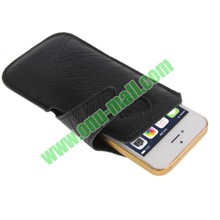 Natural Texture Leather Case Pocket Pouch Sleeve for iPhone 4S