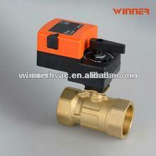 Electric ball valve actuator for hvac