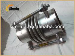 Flexible telescopic stainless steel compensator