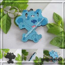 Promotion Custom Design Soft PVC Cute Welsh Spr Shaped Lcd Keychain