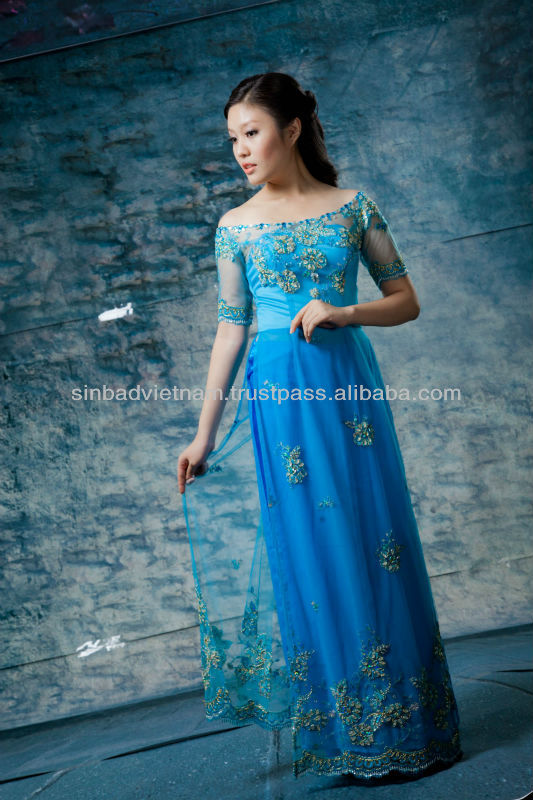 Blue Wedding Ao Dai The gallery for -->...