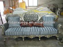 living room royal solid wood antique classic chesterfield leather sofa danxueya-850#