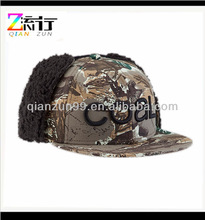 3d Embroidery Winter Snapback Earflap