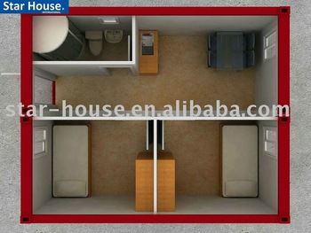 eco friendly portable container office prefab cabins with iso9001