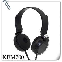 KUBE KBM-200 OEM Sports flat wire headphone for Samsung,MP3 MP4,PC,Laptop