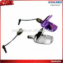 Universal capactive stylus pen,phone dock+screen cleaner+logo position+earphone plug