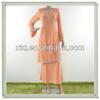 Elegant design plain chiffon model baju muslim 2013