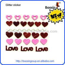 Love shape glitter sticker for iphone 5