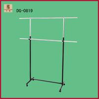 Adjustable metal hanging clothes display racks / Supermarket Metal Hanging Clothes Display Rack