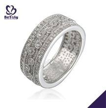 Smart diamond pattern female sterling silver wave ring