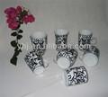 china tradicional estilo de pintado a mano taza de alto de color negro y blanco