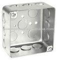 4x4 cuadrada de acero caja de conexiones eléctricas conducto de la caja delinterruptor