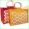 Polka dots jute bag