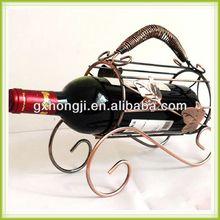 wholesale metal basket for wine bottles