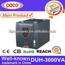 3kva volt regulator/3000watt raizin voltage stabilizer/voltage regulator using zener diode with CE/CB/ROHS Certified