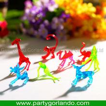 drinks decorative 8 asst animal shaped plastic custom color markers