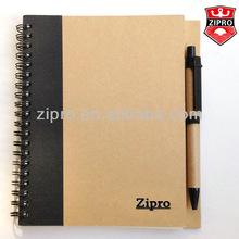 Customized hardcover notebook spiral notebook recycled notebook with pen