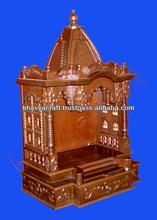 wooden temple ,altar,mandir,hindu god statue,indian temple for home