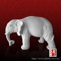 Chinese Antique Clay Ceramic Elephant