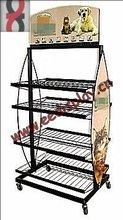 Floor standing promotional pets foods and pets snack display shelf/dog food display rack/custom metal pos display stand