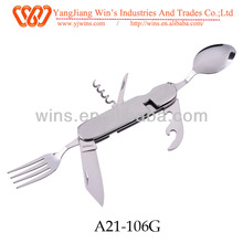 camping tools spoon fork knife set