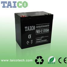 Hot sale MF lead acid storage rechargeable AGM UPS 12v 55ah battery