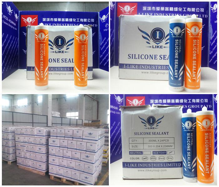 window glass acetic silicone sealant 300ml (Kingjoin ID-121)