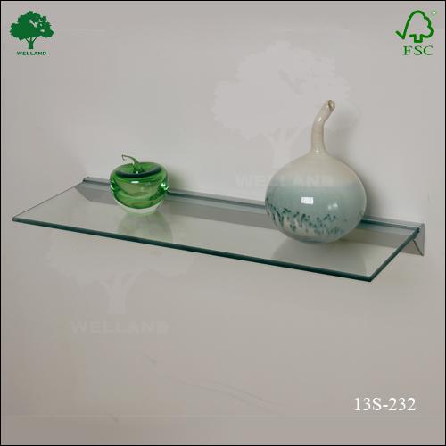 Montaje en pared de vidrio flotante estante estanter as y for Banos con repisas de vidrio