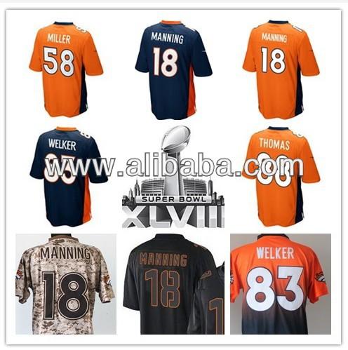 Cheap Football Super bowl Superbowl 2014 Jersey XLVIII 18 Peyton Manning 24 Bailey 58 Von Miller 83 Welker 87 Decker 88 Thomas